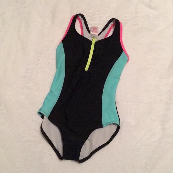 1052ef9182 Xhilaration Swim   Girls Racerback One Piece Bathing Suit   Poshmark